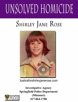 Shirley Jane Rose Homicide poster